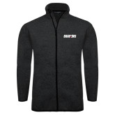 Black Heather Fleece Jacket-Dragons