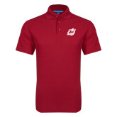 Red Dry Zone Grid Polo-Dragon Mark