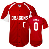 Replica Red Adult Baseball Jersey-Personalized Softball