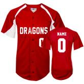Replica Red Adult Baseball Jersey-Personalized Softball