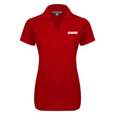 Ladies Red Dry Zone Grid Polo-Dragons