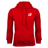 Red Fleece Hoodie-Dragon Mark
