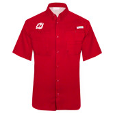 Columbia Tamiami Performance Red Short Sleeve Shirt-Dragon Mark