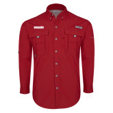Columbia Bahama II Red Long Sleeve Shirt-Dragons