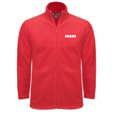 Fleece Full Zip Red Jacket-Dragons