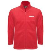 Fleece Full Zip Red Jacket-Dragons