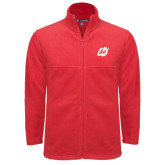 Fleece Full Zip Red Jacket-Dragon Mark