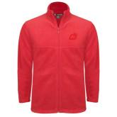 Fleece Full Zip Red Jacket-Dragon Mark