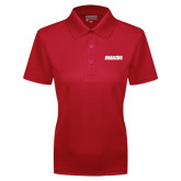Ladies Red Dry Mesh Polo-Dragons