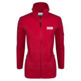 Columbia Ladies Full Zip Red Fleece Jacket-2017 NSIC Champions - MSUM Basketball