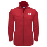 Columbia Full Zip Red Fleece Jacket-Dragon Mark
