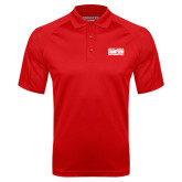 Red Textured Saddle Shoulder Polo-2017 NSIC Champions - Mens Basketball