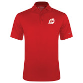 Columbia Red Omni Wick Round One Polo-Dragon Mark