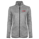 Grey Heather Ladies Fleece Jacket-Dragons