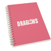 Clear 7 x 10 Spiral Journal Notebook-Dragons