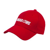 Red Heavyweight Twill Pro Style Hat-Dragons