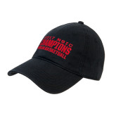 Black Twill Unstructured Low Profile Hat-2017 NSIC Champions - MSUM Basketball