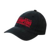 Black OttoFlex Unstructured Low Profile Hat-2017 NSIC Champions - Mens Basketball