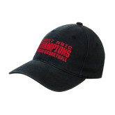 Black OttoFlex Unstructured Low Profile Hat-2017 NSIC Champions - MSUM Basketball