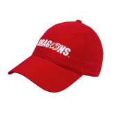 Red Twill Unstructured Low Profile Hat-Dragons