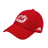 Adidas Red Slouch Unstructured Low Profile Hat-Dragon Mark