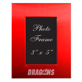 Red Brushed Aluminum 3 x 5 Photo Frame-Dragons Engraved