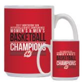 Full Color White Mug 15oz-2017 Northern Sun Intercollegiate Conference Men and Women Champions