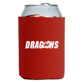 Neoprene Red Can Holder-Dragons