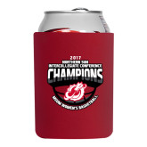 Collapsible Red Can Holder-2017 Northern Sun Intercollegiate Conference Womens Champions