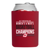Collapsible Red Can Holder-2017 Northern Sun Intercollegiate Conference Men and Women Champions