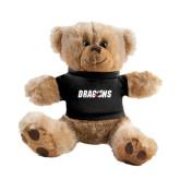 Plush Big Paw 8 1/2 inch Brown Bear w/Black Shirt-Dragons