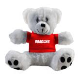 Plush Big Paw 8 1/2 inch White Bear w/Red Shirt-Dragons