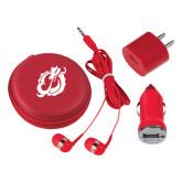 3 in 1 Red Audio Travel Kit-Dragon Mark