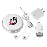 3 in 1 White Audio Travel Kit-Dragon Mark