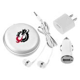 3 in 1 White Audio Travel Kit-Dragon Mark