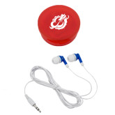 Ear Buds in Red Case-Dragon Mark