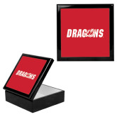 Ebony Black Accessory Box With 6 x 6 Tile-Dragons