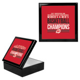 Ebony Black Accessory Box With 6 x 6 Tile-2017 Northern Sun Intercollegiate Conference Men and Women Champions