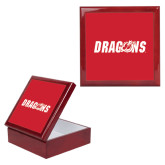 Red Mahogany Accessory Box With 6 x 6 Tile-Dragons