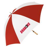 62 Inch Red/White Vented Umbrella-Dragons