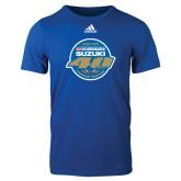Adidas Royal Logo T Shirt-40th Logo Mens Blue