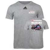Adidas Sport Grey Logo T Shirt-Yoshimura Suzuki Factory Racing