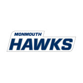 Medium Decal-Monmouth Hawks, 8 in W