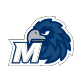Small Decal-Hawk with M, 6 in W