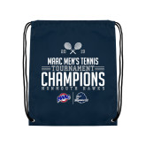 Navy Drawstring Backpack-2019 Mens Tennis Conference Champions