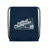 Navy Drawstring Backpack-2019 MAAC Softball Champions