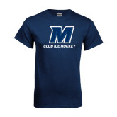Navy T Shirt-Club Ice Hockey