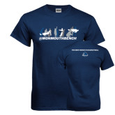 Navy T Shirt-Monmouth Bench 3 Celebrations