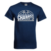 Navy T Shirt-2017 MAAC Regular Season Basketball Champs Half Ball