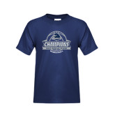 Youth Navy T Shirt-2017 MAAC Regular Season Basketball Champions Banner